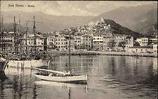 Sanremo San Remo Italien Italia Ligurien ~1910 Porto Hafen Panorama Schiffe Boot
