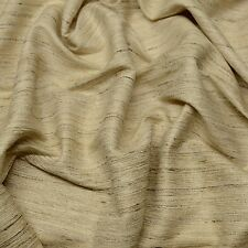"Natural Color Tassah/Noil 100% Raw Silk Fabric 54"" Wide, By The Yard (WT-205)"