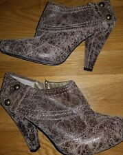 Seychelles Womens Taupe  Ankle Booties Zipper Stud Size 7.5 Anthropologie Boots