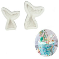 3D Mermaid Tail Silicone Cake Moulds Fondant DIY Chocolate Bake Mold