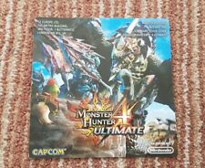 Monster Hunter 4 Ultimate MANUAL ONLY. Nintendo 3DS. DS