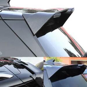 For Chevrolet Equinox 2018-2021 Black Carbon Fiber Rear Trunk Spoiler Wing Flap