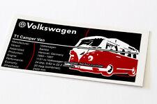 LEGO CREATOR UCS Adesivo Per VW T1 Camper Van 10220
