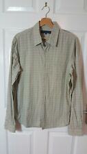 Mens French Connection Casual Grey Geomet Long Sleeved Shirt size L large cotton