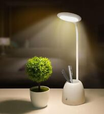 Adjustable Table Desk Lamp Home Bed Side Night Reading Light With Pen Container