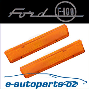 2x Ford F100 F150 Bronco Indicator Light Lens Front Guard Quarter Panel 1981-86