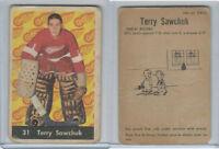 1961 Parkhurst Hockey, #31 Terry Sawchuk HOF, Detroit Red Wings