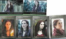 Melisandre - 6 Card Lot - Games Of Thrones Cards Carice van Houten - HBO