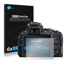 6x Displayschutzfolie für Nikon D5600 Schutzfolie Klar Folie Displayfolie
