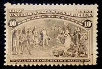 US Stamp Scott #237 Mint OG NH 10 Cents 1893 Columbian Black