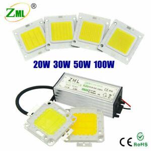 LED COB Chip + Driver 100W 50W 30W 20W 10W Power Supply Transformer Floodlight