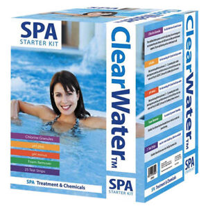 CLEARWATER SWIMMING SPA HOT TUB TREATMENT STARTER CHEMICAL KIT
