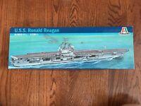 Vintage USS RONALD REAGAN Model Kit Italeri SpA #5533 US Navy Aircraft Carrier