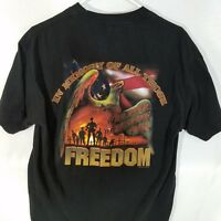 Hot Leathers T-Shirt  Died Defending our Freedom  Black Graphic Large