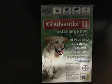 K9 ADVANTIX II FLEA AND TICK CONTROL DOGS OVER 55 LBS- 6 PACK- NO BOX INCLUDED