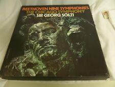 SOLTI : BEETHOVEN THE NINE SYMPHONIES LP - THE CHICAGO SYMPHONY
