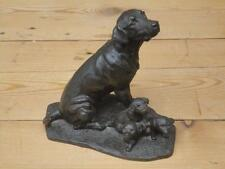 Heredities JS174 Labrador With Puppies Bronzed Finish Resin Figure Collectable J