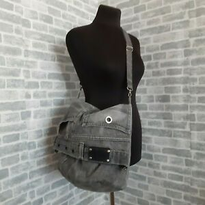 Handmade Male extra large denim bag - bucket hipster style of recycled jeans
