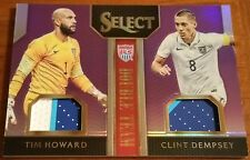 TIM HOWARD / DEMPSEY 2015 SELECT SOCCER PURPLE DOUBLE TEAM 3CLR PATCH 02/20 USA