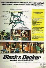 Publicité advertising 1975 Bricolage outillage Black & Decker etabli etau
