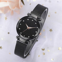 Elegante Frauen-Damen-Kristallstern-Himmel-Uhr-Magnetband Uhren Geschenk Neu