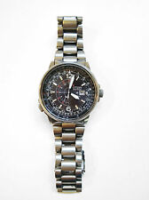CITIZEN PILOT PROMASTER ECODRIVE NIGHTHAWK STAINLESS STEEL eco drive solare