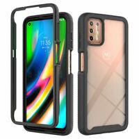 For Motorola Moto G9 Plus Full-Body Phone Case Built-in Screen Protector
