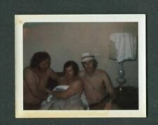 Vintage Polaroid Photo 3 Men in Bed Gay Interest 396069