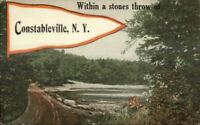 Constableville NY Pennant Greeting c1910 Postcard #2