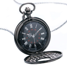 Pocket Watch Antique Style Analog Quartz Stationary Steampunk Fashion Retro Gift