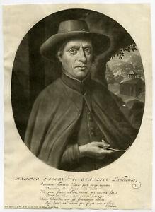 Rare Antique Master Print-FRERE JACQUES DE BEAULIEU-LITHOTOMIST-Pool-Gole-c.1699