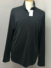 Sport-Tek Men's Shirt 3/4 Zip Gray Long Sleeve Athletic Tee Size XL