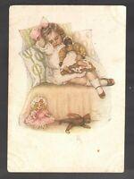 Harrison Fisher Fell asleep Vintage postcard /297