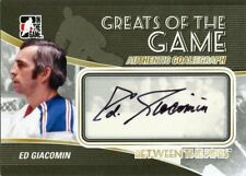 10/11 BETWEEN THE PIPES GOALIEGRAPH AUTOGRAPH AUTO ED GIACOMIN RANGERS *43734