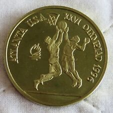 More details for romania 1996 basketball olympic games 100 lei brass proof pattern