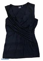 Woman's BLACK SAKS FIFTH AVENUE Black Tank Top Sleeveless Size Extra Small XS