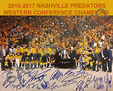 2016-2017 NASHVILLE PREDATORS WESTERN CONFERENCE CHAMPIONS 8x10 TEAM PHOTO