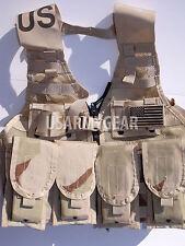 Loaded US Army MOLLE II Desert Tan Fighting Vest FLC LBV 4 Double Pouch 2 K Bar