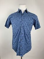 Steven Alan Summer Shirt Size Medium Blue Hawaiian Tropical Short Sleeve  in USA