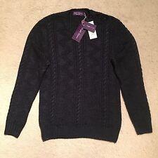 Ralph Lauren Purple Label Shoulder Button Silk Jumper Navy Size XL RRP €1,295.00