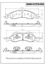 Disc Brake Pad Set-Metallic Pads Front Pronto PMD1278