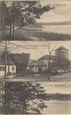 4037 - Gruß aus Prenden in der Mark mit Kirche in der Gemeinde Wandlitz 1921