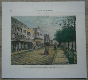1876 print CANAL STREET, NEW ORLEANS, LOUISIANA (#104)