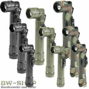 US WINKELTASCHENLAMPE LED NEU BW TASCHENLAMPE LAMPE OLIV / SCHWARZ / FLECKTARN