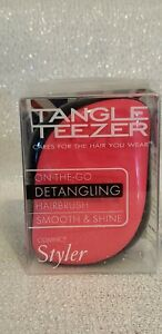 NEW Tangle Teezer On-The-Go Compact Styler Detangling Hair Brush Pink Sizzle BOX