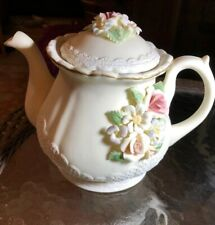 Bisque Teapot With Music Box (A Time For Us) 7�