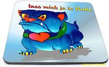 witziges Comic Bull Dog Mauspad für Laptop Notbook Computer nicht nur für Kinder