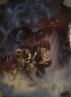 Original 1980 Star Wars The Empire Strikes Back Movie Poster 20x27 Style A
