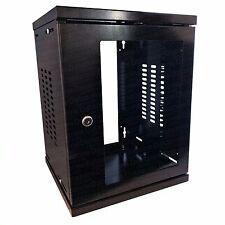 """8u 19"""" 300mm soho noir foncé mural données cabinet comms rack serveur cabinet"""