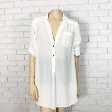 Zoa Women's White Tunic Top - Size Small